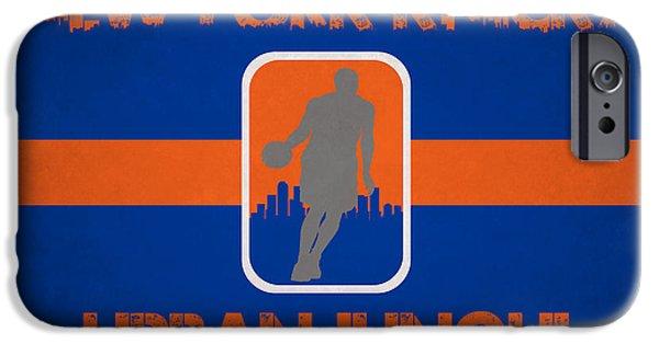 Knicks iPhone Cases - New York Knicks iPhone Case by Joe Hamilton