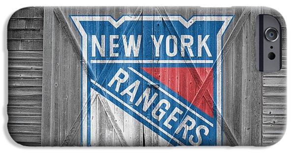 New Goals iPhone Cases - New York Rangers iPhone Case by Joe Hamilton