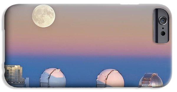 Keck iPhone Cases - Observatories On Summit Of Mauna Kea iPhone Case by David Nunuk
