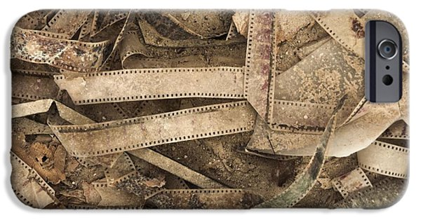 Film Pyrography iPhone Cases - Old Films background texture iPhone Case by Oliver Sved