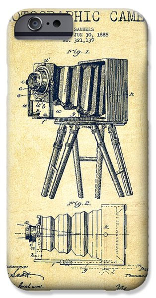 Recently Sold -  - Technical iPhone Cases - Photographic Camera Patent Drawing from 1885 iPhone Case by Aged Pixel
