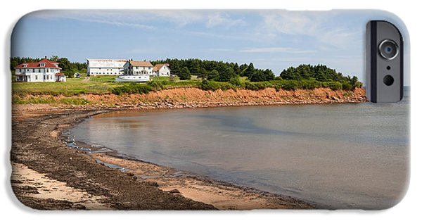 Village iPhone Cases - Prince Edward Island coastline iPhone Case by Elena Elisseeva
