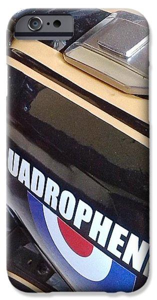 Transportation Sculptures iPhone Cases - Quadrophenia drag bike iPhone Case by Richard John Holden