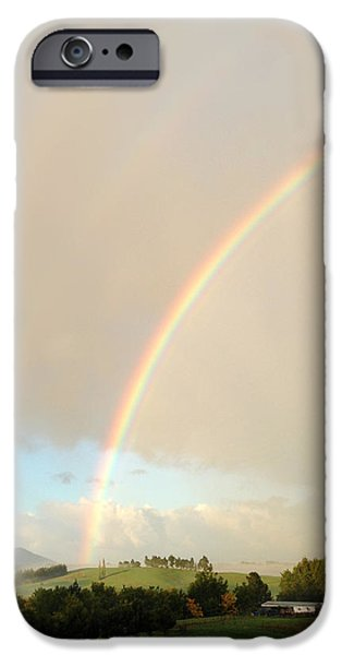 Rainbow iPhone Case by Les Cunliffe