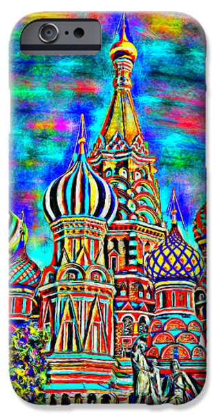 Prismatic Paintings iPhone Cases - Rainbow Temple iPhone Case by Bruce Nutting
