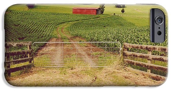 Agricultural iPhone Cases - Red barn iPhone Case by Les Cunliffe