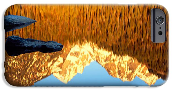 Mountain iPhone Cases - Reflection Of Mountains In A Lake iPhone Case by Panoramic Images