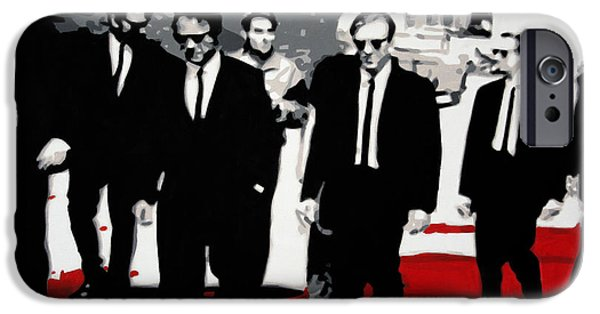 Ludzska iPhone Cases - Reservoir Dogs iPhone Case by Luis Ludzska