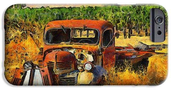 Vineyard Photograph iPhone Cases - Retired Relics iPhone Case by Barbara Snyder