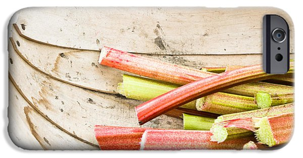 Crops Photographs iPhone Cases - Rhubarb iPhone Case by Tom Gowanlock