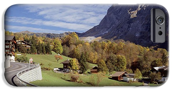 Grindelwald iPhone Cases - Road Passing Through A Landscape iPhone Case by Panoramic Images