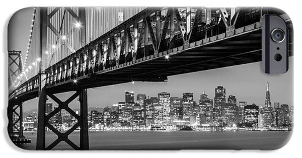 Bay Bridge iPhone Cases - San Francisco iPhone Case by Radek Hofman