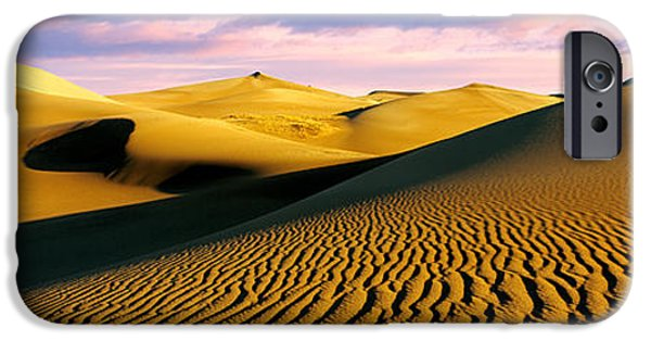 Mounds iPhone Cases - Sand Dunes In A Desert, Great Sand iPhone Case by Panoramic Images