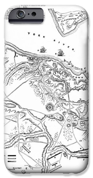 Yorktown iPhone Cases - Siege Of Yorktown, 1781 iPhone Case by Granger