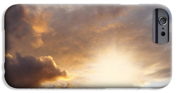 Cloudscape Photographs iPhone Cases - Sky iPhone Case by Les Cunliffe