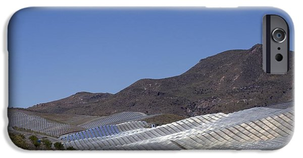 Electrical Equipment iPhone Cases - Solar Power Plant, Cala San Pedro, Spain iPhone Case by Chris Knapton