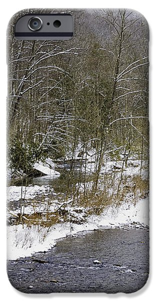 Spring Snow Williams River  iPhone Case by Thomas R Fletcher