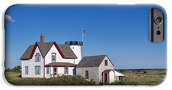 Chatham iPhone Cases - Stage Harbor Lighthouse iPhone Case by John Greim