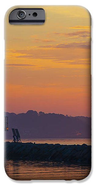 Sunrise at Spring Point Lighthouse iPhone Case by Diane Diederich