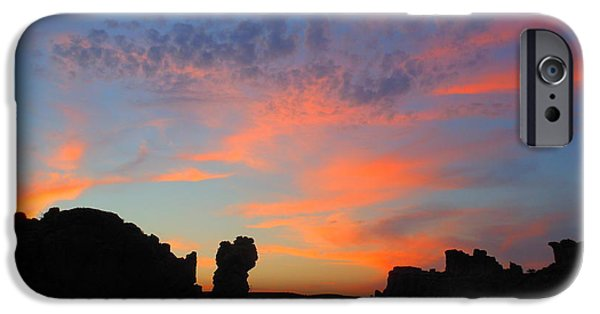Eternal Inspirational iPhone Cases - Sunset In Monolith Gardens iPhone Case by James Welch