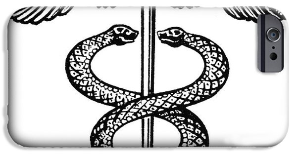 Recently Sold -  - Serpent iPhone Cases - The Caduceus iPhone Case by Granger