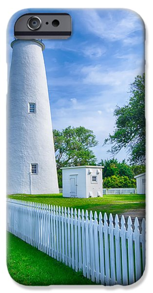 White House iPhone Cases - The Ocracoke Lighthouse and Keepers Dwelling on Ocracoke Island iPhone Case by Alexandr Grichenko