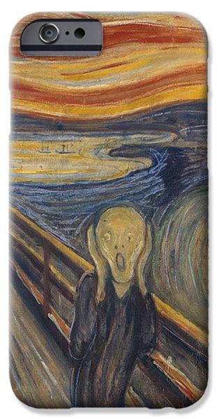 The Scream iPhone Cases - The Scream iPhone Case by Edvard Munch