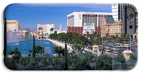 The Strip iPhone Cases - The Strip, Las Vegas, Nevada, Usa iPhone Case by Panoramic Images