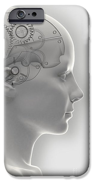 Mechanism iPhone Cases - Thought Mechanism iPhone Case by Science Picture Co