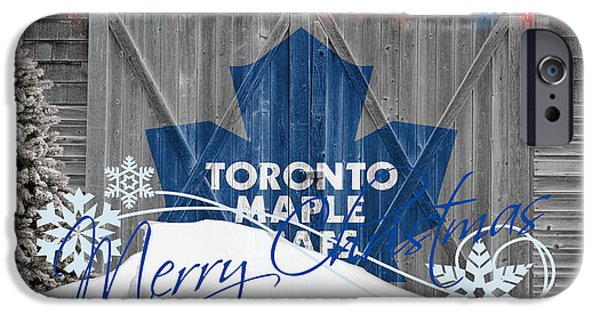 Toronto Maple Leafs iPhone Cases - Toronto Maple Leafs iPhone Case by Joe Hamilton