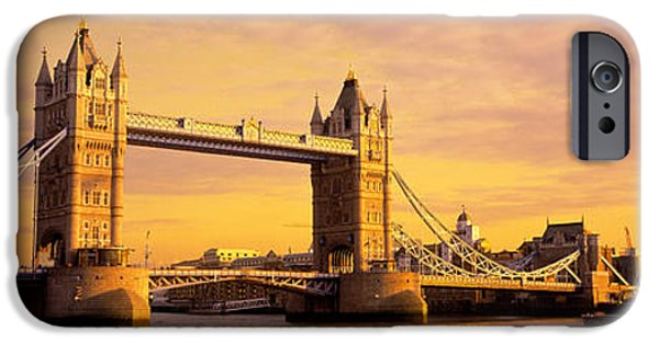19th Century iPhone Cases - Tower Bridge London England iPhone Case by Panoramic Images