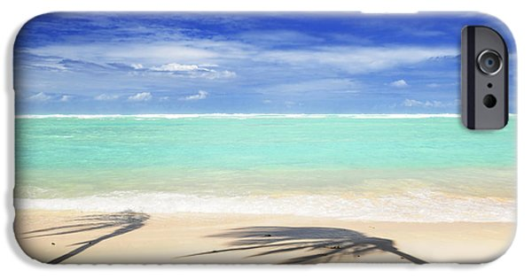 Pristine iPhone Cases - Tropical beach iPhone Case by Elena Elisseeva