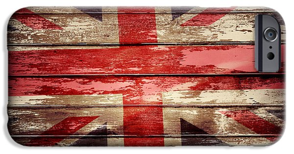 Board iPhone Cases - Union Jack flag  iPhone Case by Les Cunliffe
