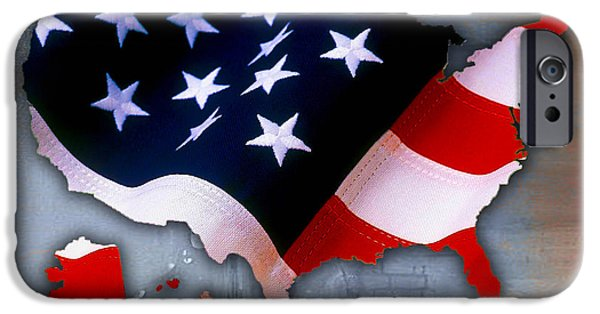 States iPhone Cases - United States Map iPhone Case by Marvin Blaine