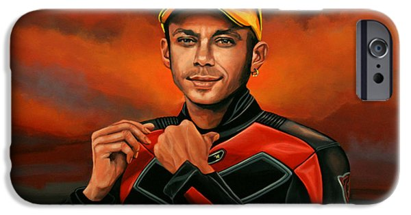Vale iPhone Cases - Valentino Rossi  iPhone Case by Paul  Meijering