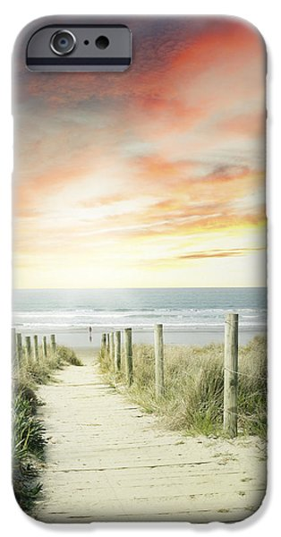 Pathway iPhone Cases - Walkway iPhone Case by Les Cunliffe