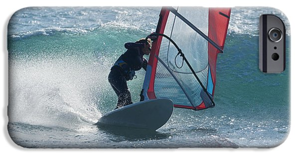 35-39 Years iPhone Cases - Windsurfing Tarifa, Cadiz, Andalusia iPhone Case by Ben Welsh