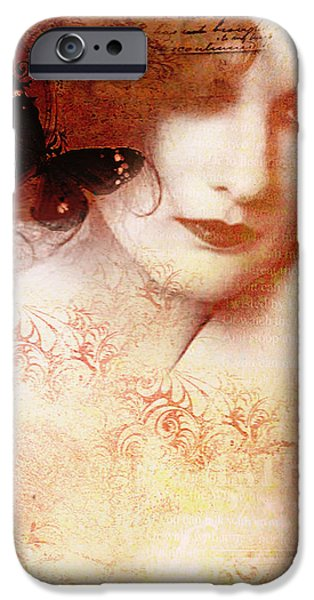 1950s Portraits Digital iPhone Cases - Winsom Women iPhone Case by Chris Andruskiewicz