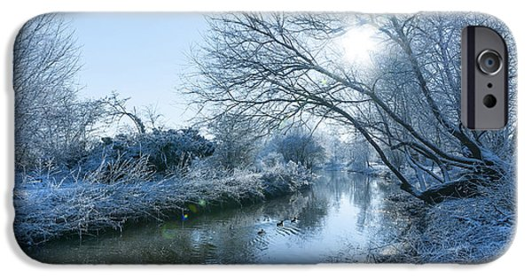 Snowy Stream iPhone Cases - Winter iPhone Case by Svetlana Sewell