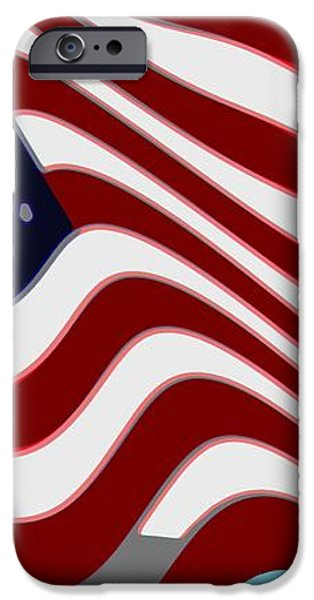 50 Star American Flag Closeup Abstract 7 iPhone Case by L Brown