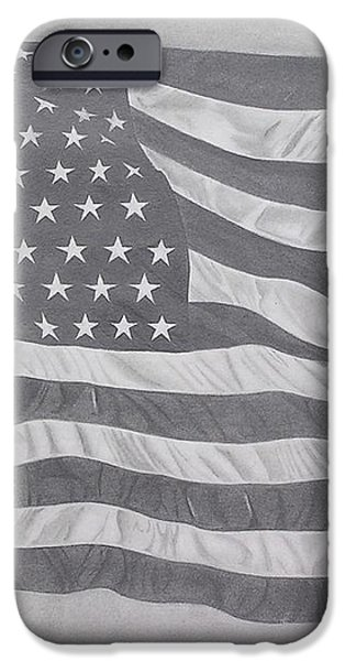 50 Stars 13 Stripes iPhone Case by Wil Golden