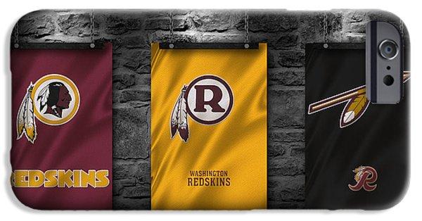 Washington Dc iPhone Cases - Washington Redskins iPhone Case by Joe Hamilton