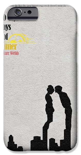 Geek Mixed Media iPhone Cases - 500 Days of Summer iPhone Case by Ayse Deniz