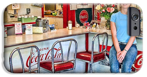 American History iPhone Cases - 50s American style Soda Fountain iPhone Case by David Smith