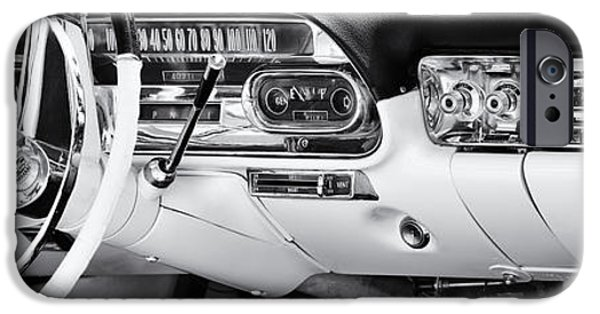 Board iPhone Cases - 50s Cadillac Dashboard iPhone Case by Tim Gainey