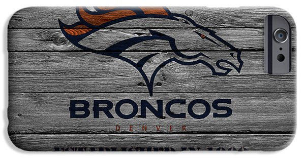 Santa iPhone Cases - Denver Broncos iPhone Case by Joe Hamilton