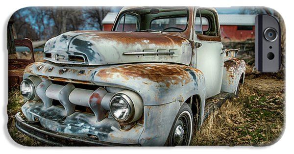 Antique Cars iPhone Cases - 51 Ford F1 Pick-Up iPhone Case by YoPedro