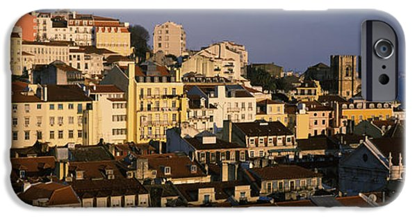 Built Structure iPhone Cases - High Angle View Of Buildings In A City iPhone Case by Panoramic Images