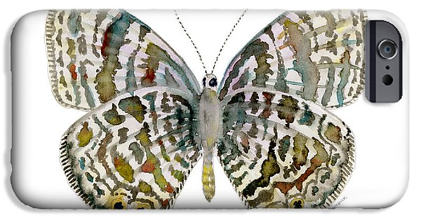 Moth iPhone Cases - 51 Langs Short-tailed Blue Butterfly iPhone Case by Amy Kirkpatrick