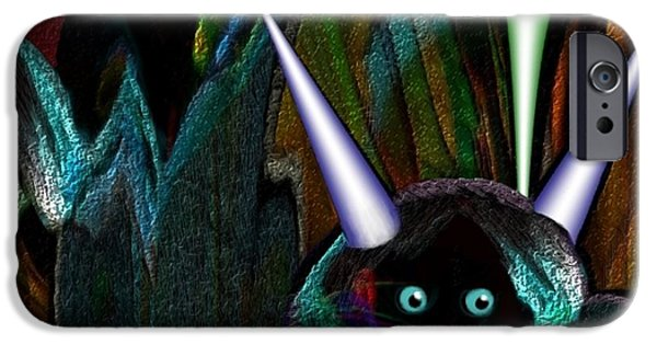 Irmgard iPhone Cases - 527 - Little Alien Being iPhone Case by Irmgard Schoendorf Welch